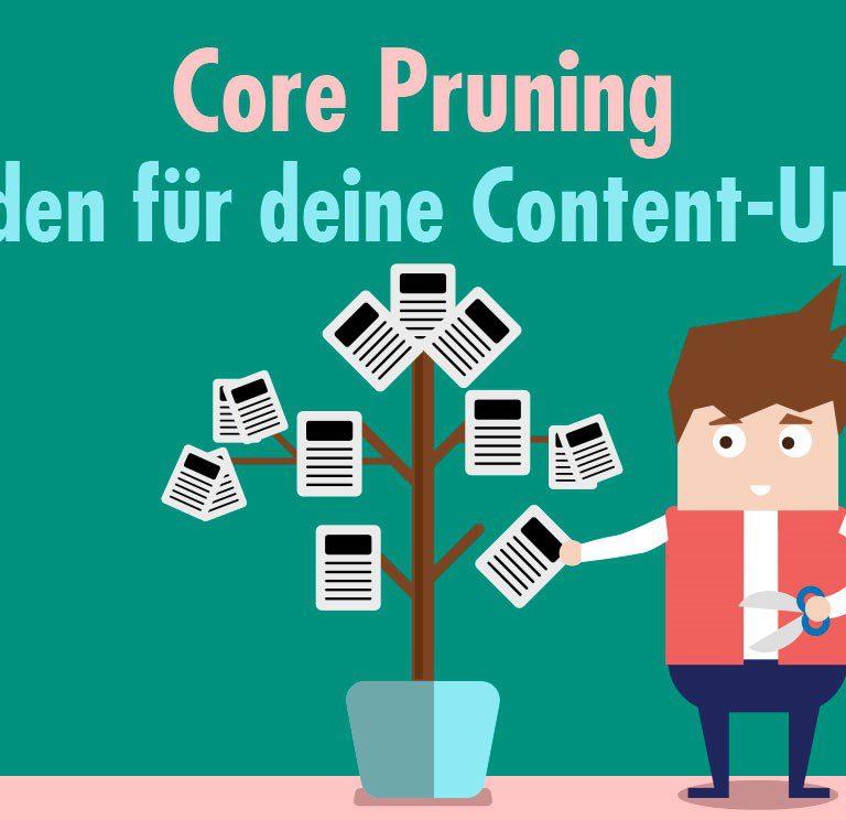 Core Pruning, Leitfaden für deine Content-Updates